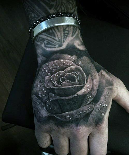 Top 50 Best Hand Tattoos For Men Fist Designs And Ideas Rose