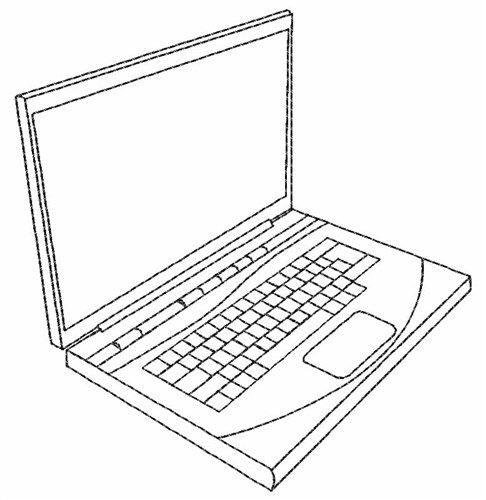 Laptop Outline Embroidery Design