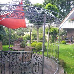 clp runder luxus pavillon romantik aus stabilen eisen vierkantprofilen 3 45 meter h he 350. Black Bedroom Furniture Sets. Home Design Ideas