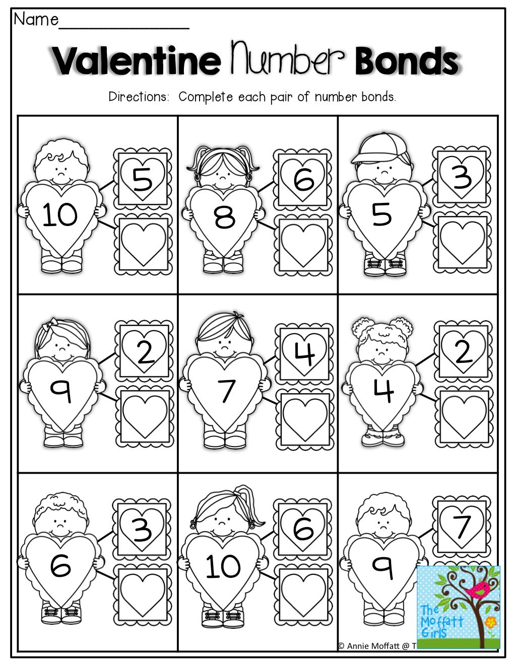 Number Bonds Tons Of Fun Printables