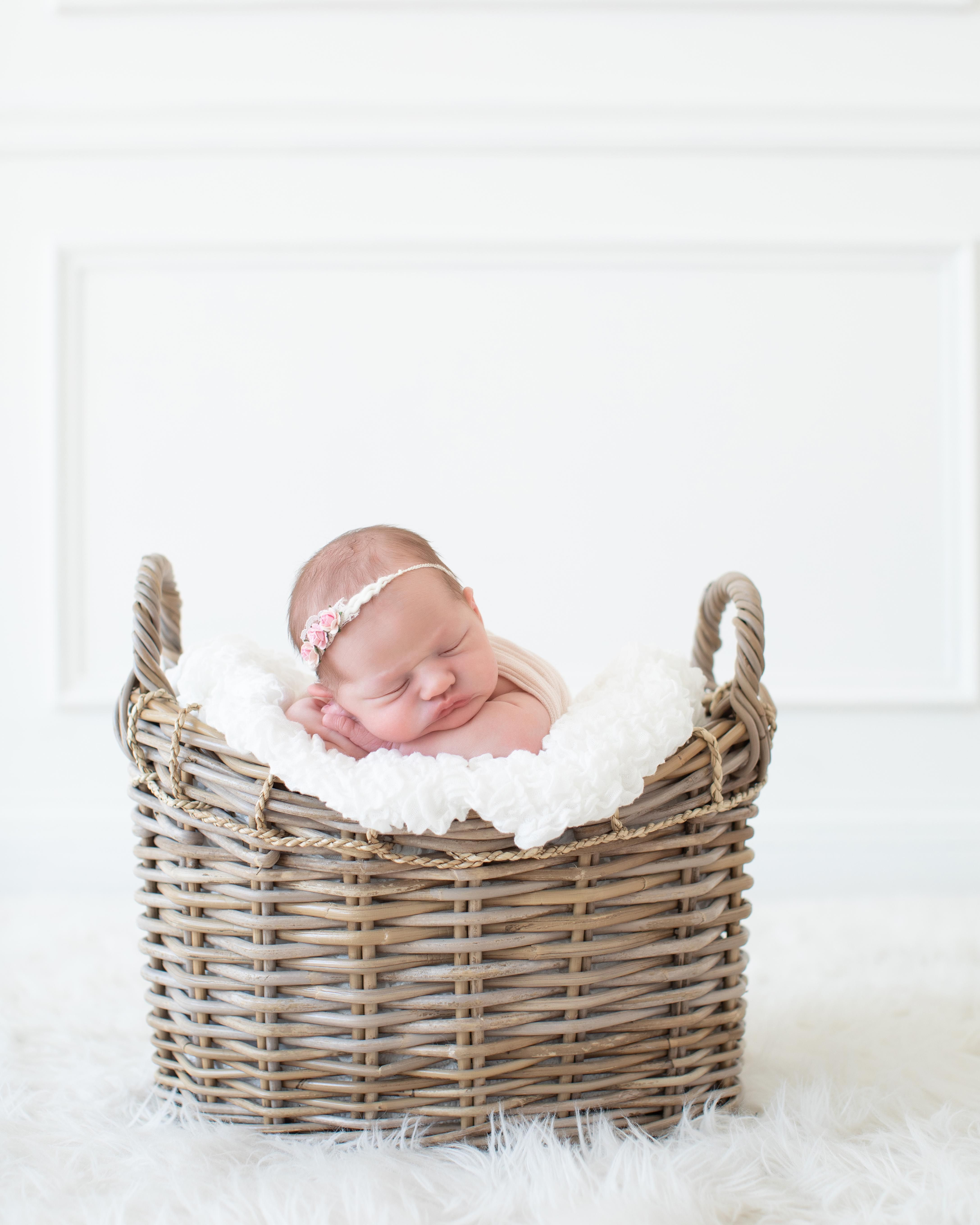 Babies in baskets newborn babies newborn baby photography newborn props newborn photo session