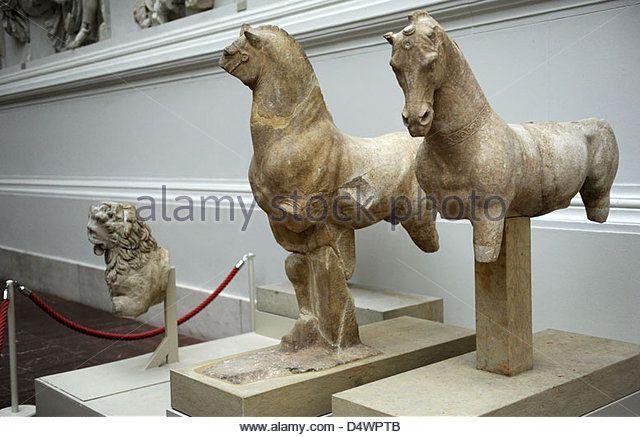 Pergamon Altar Decorative Sculpture Of The Altar Horses Marble Pergamon Museum Berlin Germany Stock Image Horses Ancient Sculpture Horse Sculpture