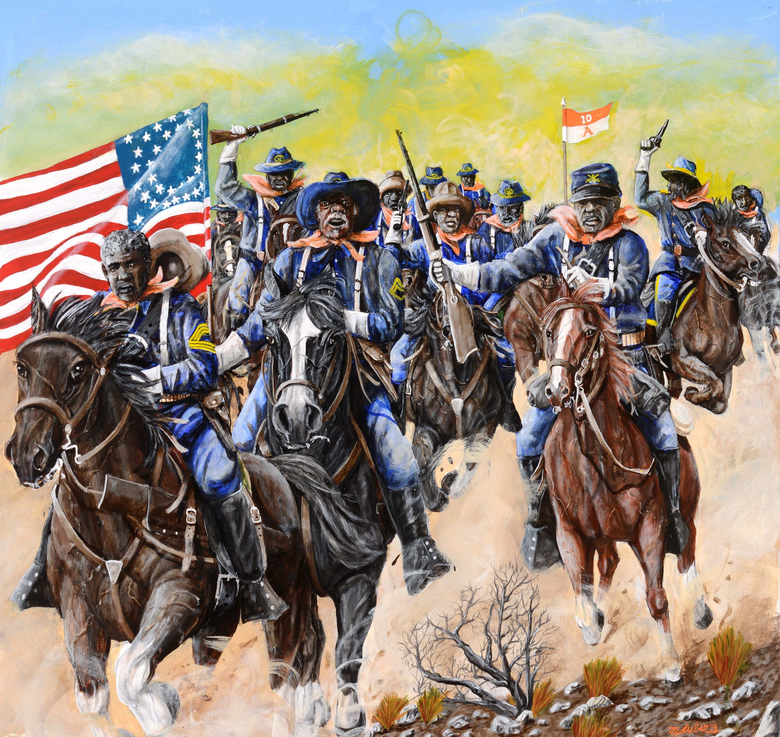 buffalo soldiers The buffalo soldiers were us army units made up entirely of african-americans find out what you know about these famous soldiers by answering.