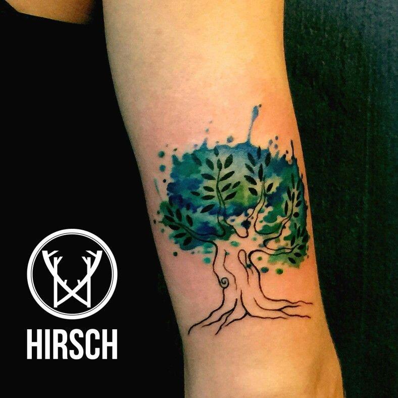 tree watercolor eliseo franchini artist