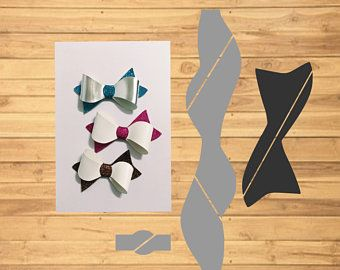 Hair Bow Digital Svg Template Make Your Own Size Svg Pdf