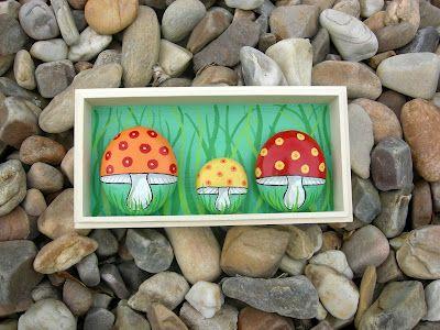 Kedibu Murales y Objetos Decorativos: Cuadro: 3 Setas * Picture: 3 Mushrooms