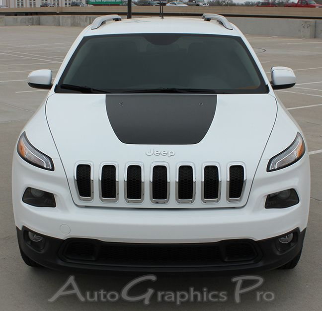 2014 2015 Jeep Cherokee Thawk Hood Vinyl Decal Graphic Stripes