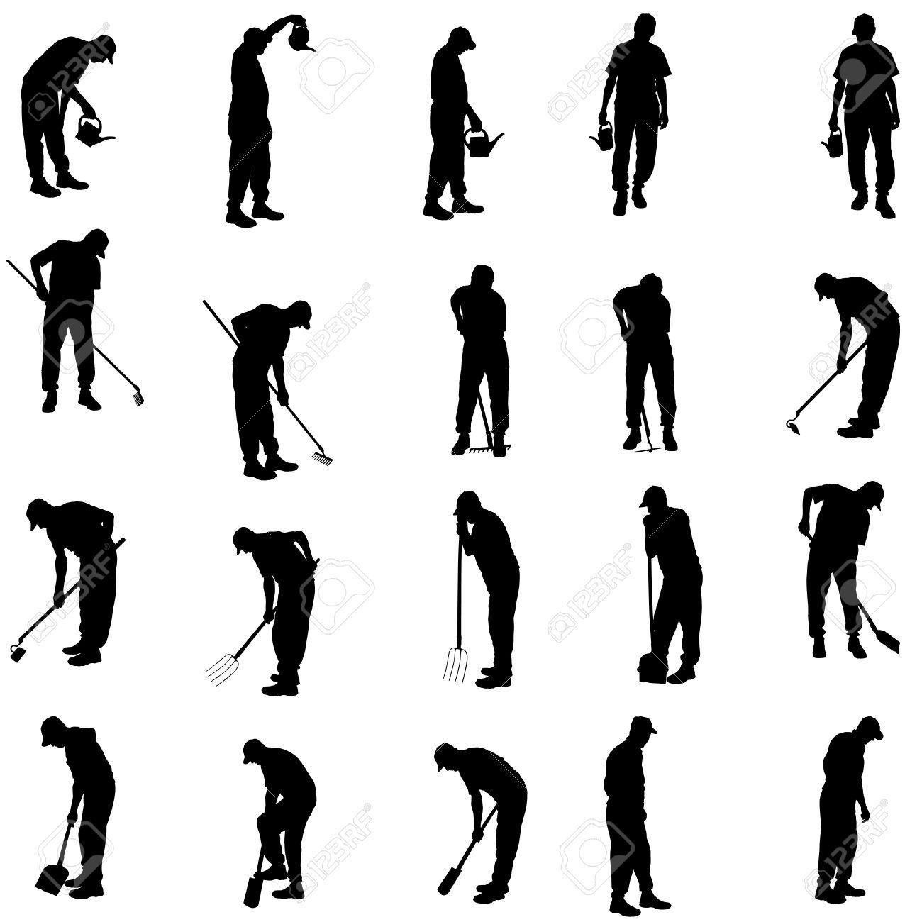 image result for clipart man digging garden [ 1300 x 1300 Pixel ]