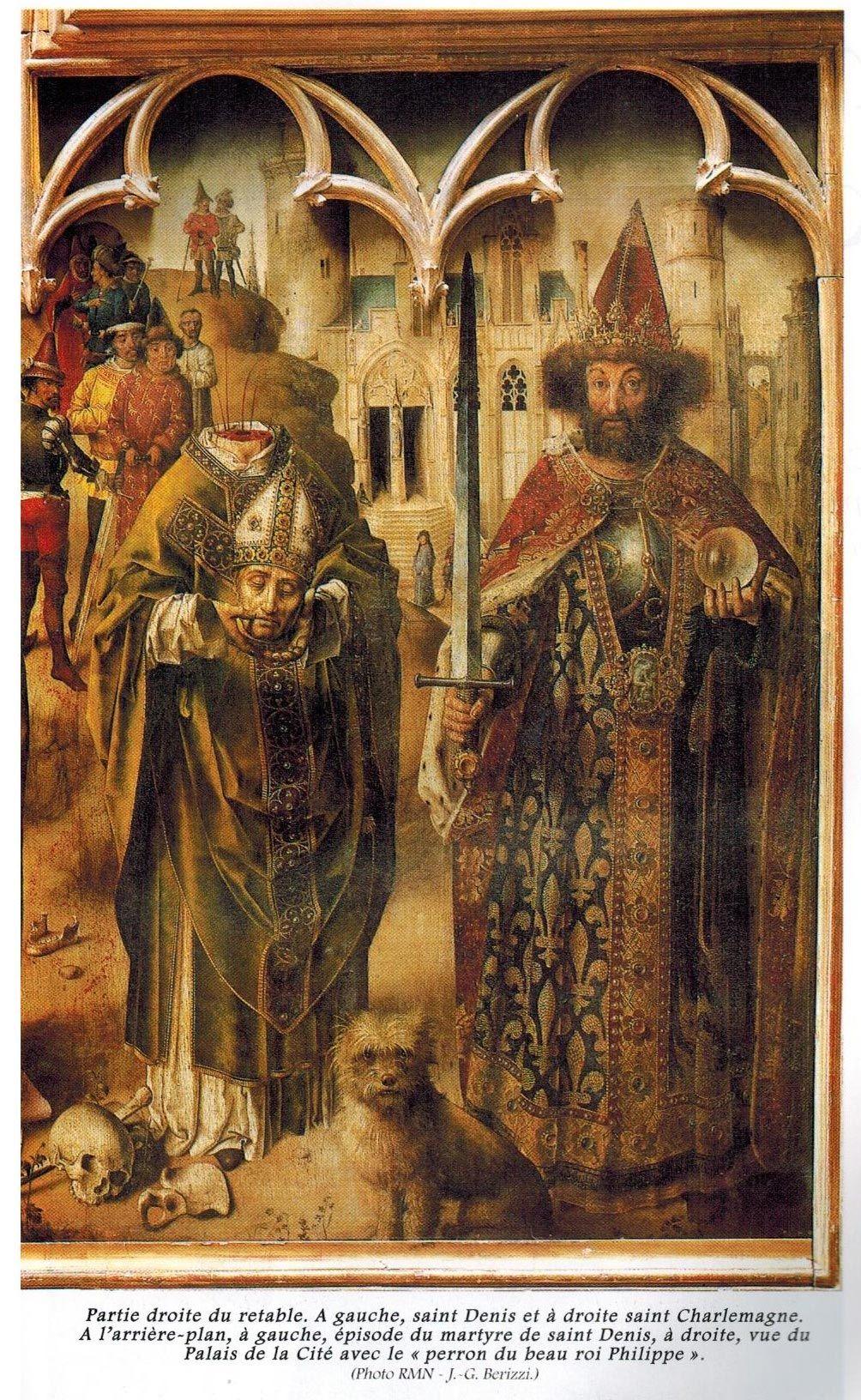 Right part of Le retable du Parlement de Paris, 1452, France