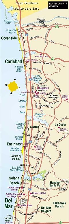 Carlsbad State Beach Camping Map : carlsbad, state, beach, camping, Solana, Beach, Ideas, Beach,, Homes