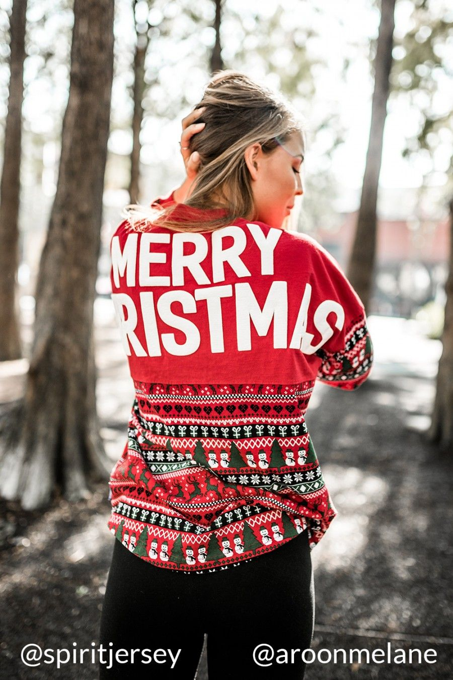 Merry Christmas Christmas 2016 Red Ugly Christmas Spirit Jersey Red Christmas Print-XSM-front-print-Yes-Snow Flake-Left Chest