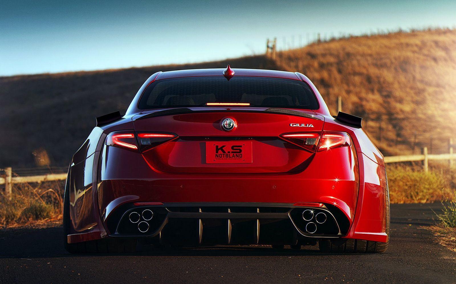 This Alfa Romeo Giulia Quadrifoglio Looks Like It Ate Another