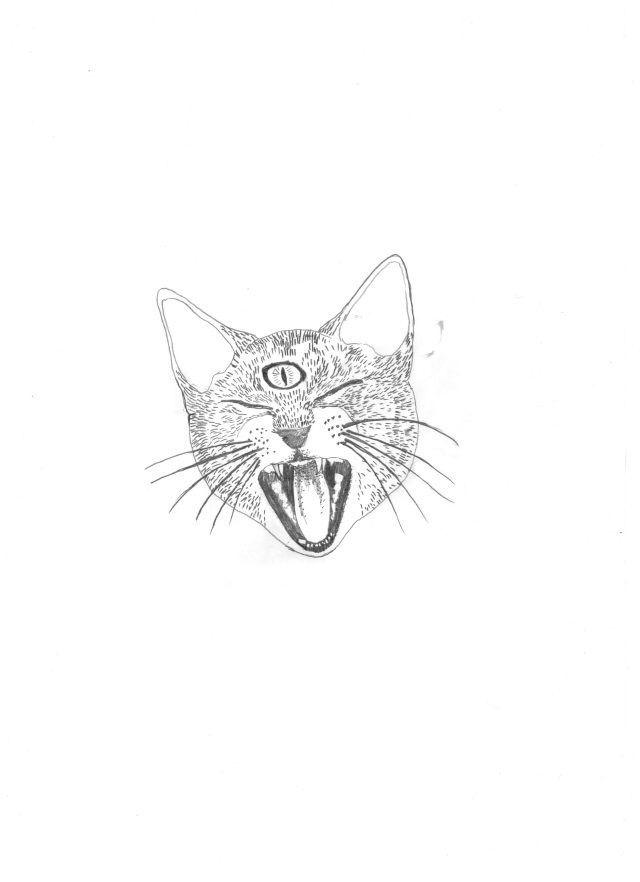 Three Eyed Cat Hand Embroidery Hoop Art Embroidery Wall Embroidery Hoop Art Embroidery Art Hoop Art