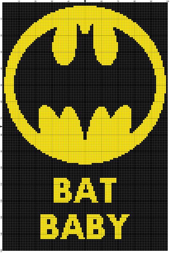 INSTANT DOWNLOAD baby batman crochet graph by DaniellesCrocheting ...