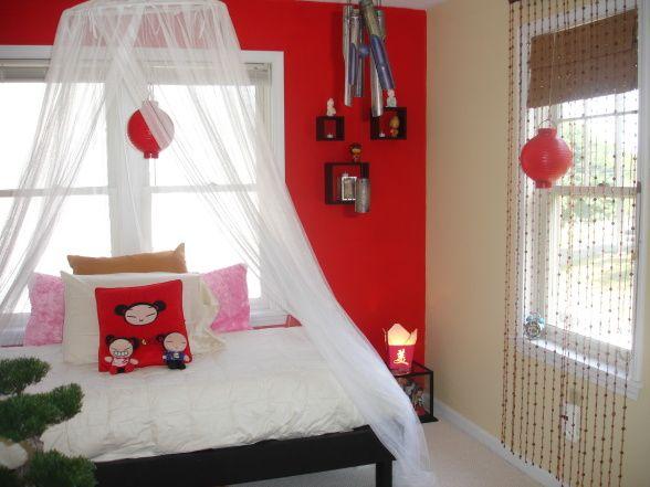Asian Themed Bedroom For Teenage Girl | Decorative Bedroom