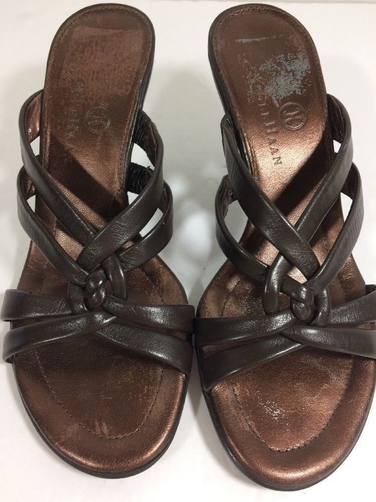 fb7fb485ab2 COLE HAAN Womens Brown Leather Mule Sandal With Kitten Heel Size 5.5 B   ColeHaan  Mules  BridalorWedding