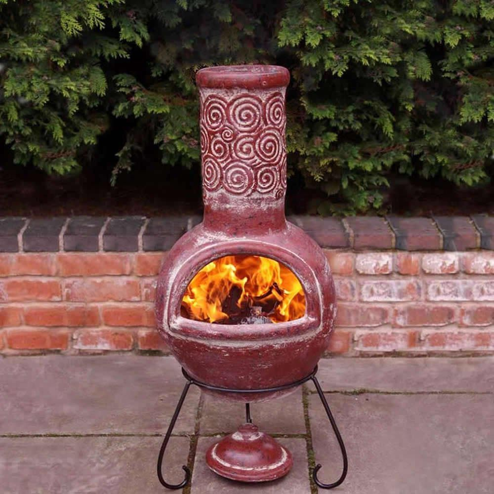 Elegant Clay Fire Pit Chimney. Chiminea ...