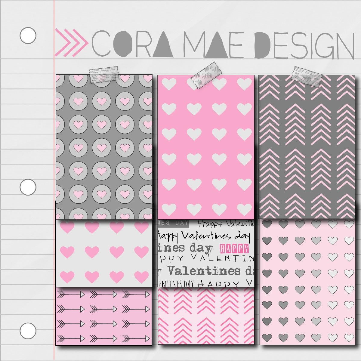 FREE VALENTINES DIGITAL PATTERNS & IPHONE WALLPAPERS