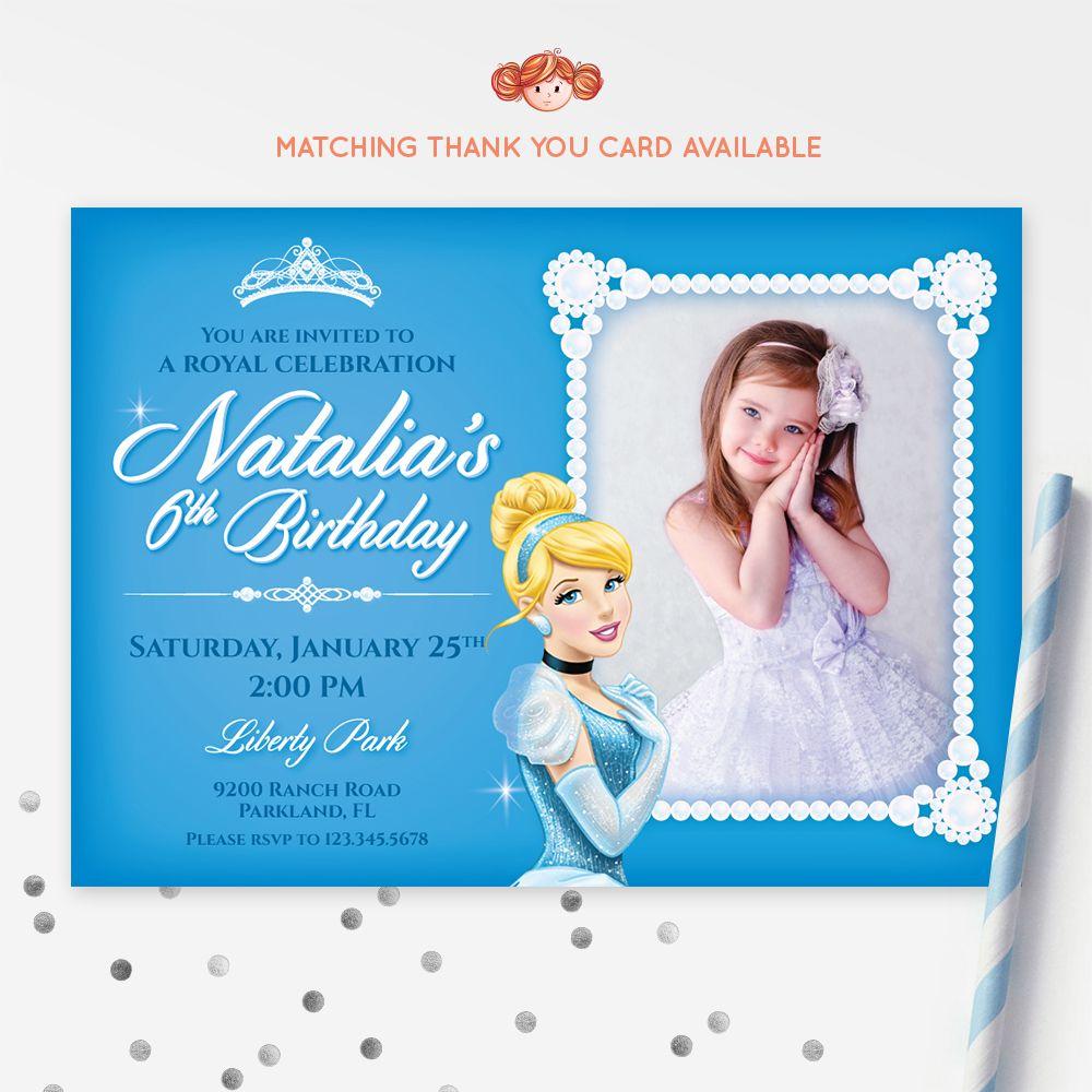 CINDERELLA Invitation Cinderella Printable Kids Invitation