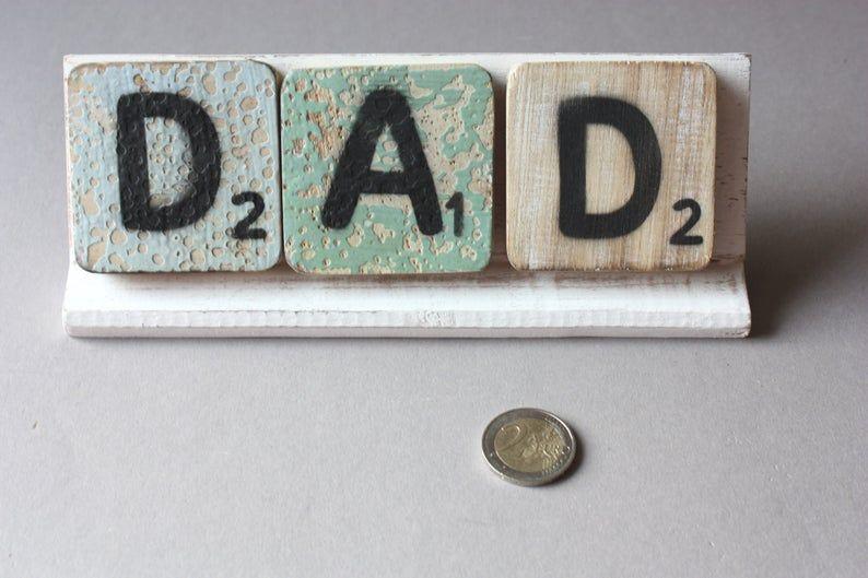 3 Buchstaben 6cm Regal Scrabble Holz Selbst Mixen