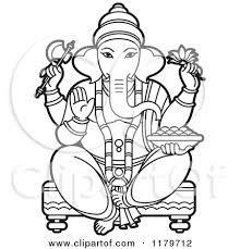 Image Result For Ganesh Sketches 2015 Black White Clip Art Lord Ganesha