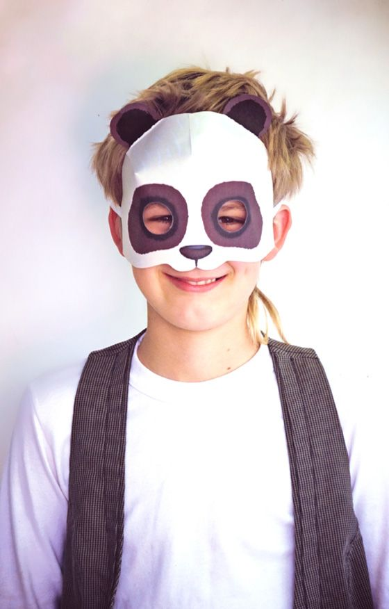Diy Matching Face Mask And Dog Bandana Boogie The Pug: Print Paper Panda Mask Video Tutorial