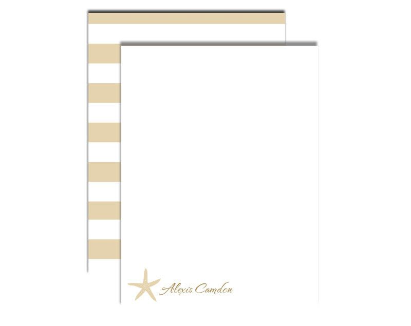Write a special note with this tan note card with a starfish embellishment.