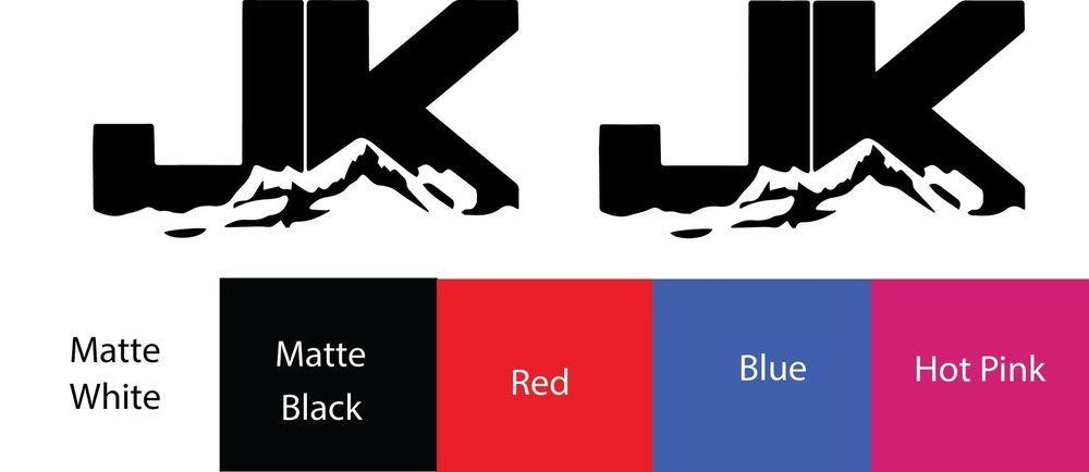2X JK Punisher Rock Crawler Vinyl Decal  Sticker Rubicon window Oracal 4x4