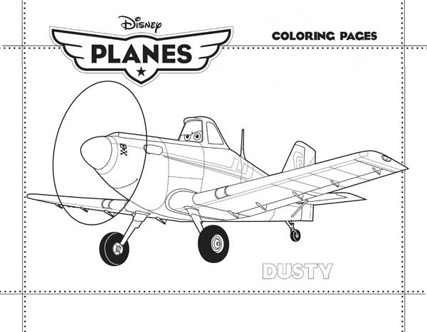 Dusty Crophopper From Disney Planes Coloring Page Kids Play Color Coloring Pages Disney Planes Super Coloring Pages