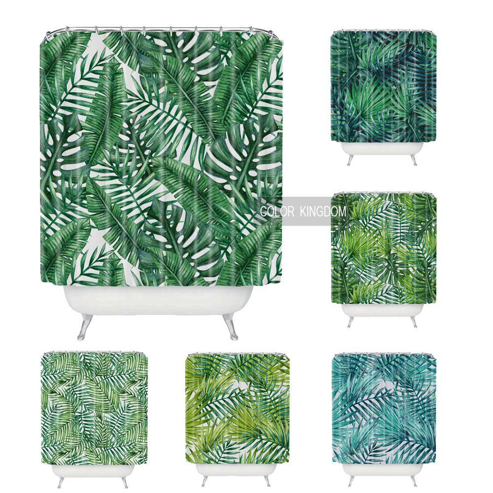 Groothandel Groene planten patroon douchegordijnen 180 cm * 180 cm ...