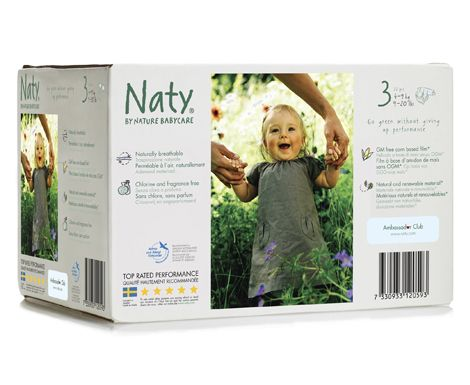 Naty Eco Couches Box Taille 3 4 9 Kg 9 20 Lbs 72 Pcs Baby