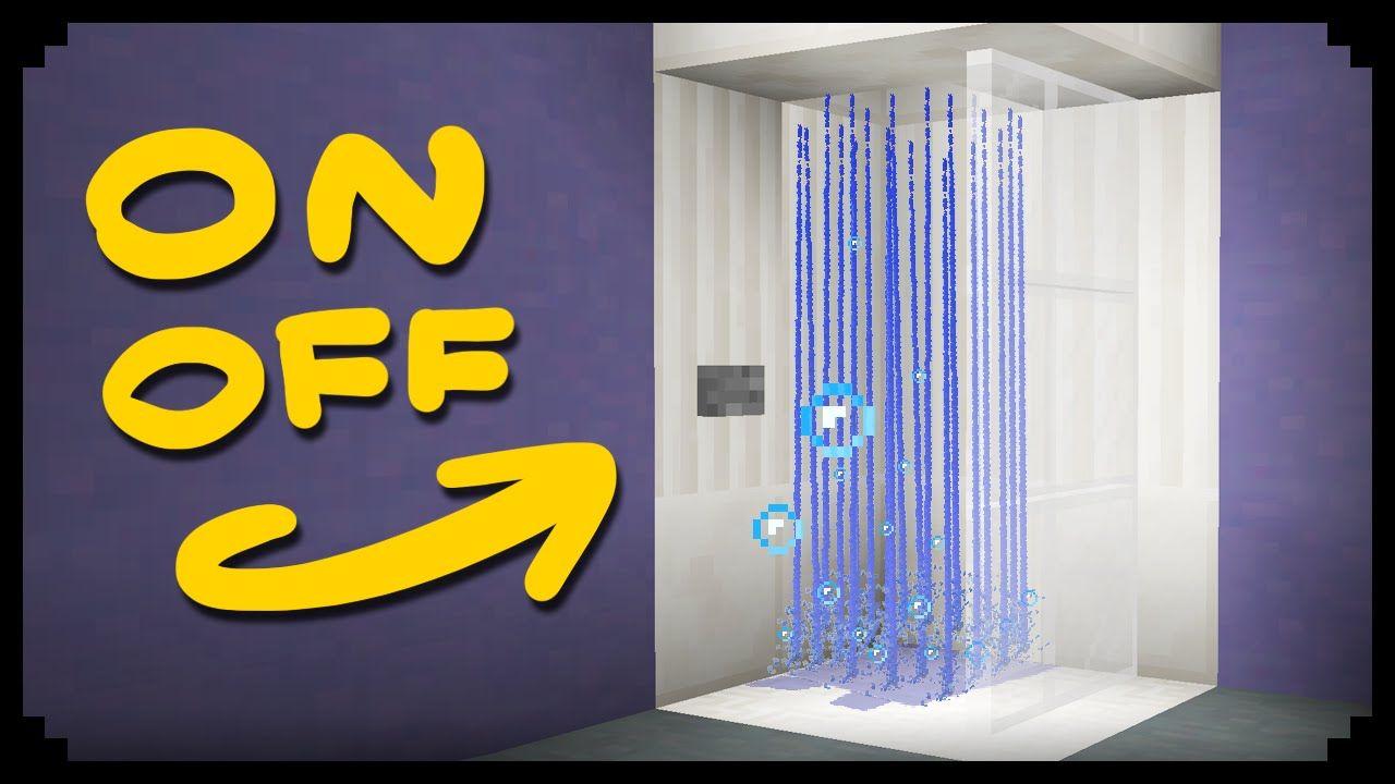 Minecraft How to make a Working Shower … Minecraft