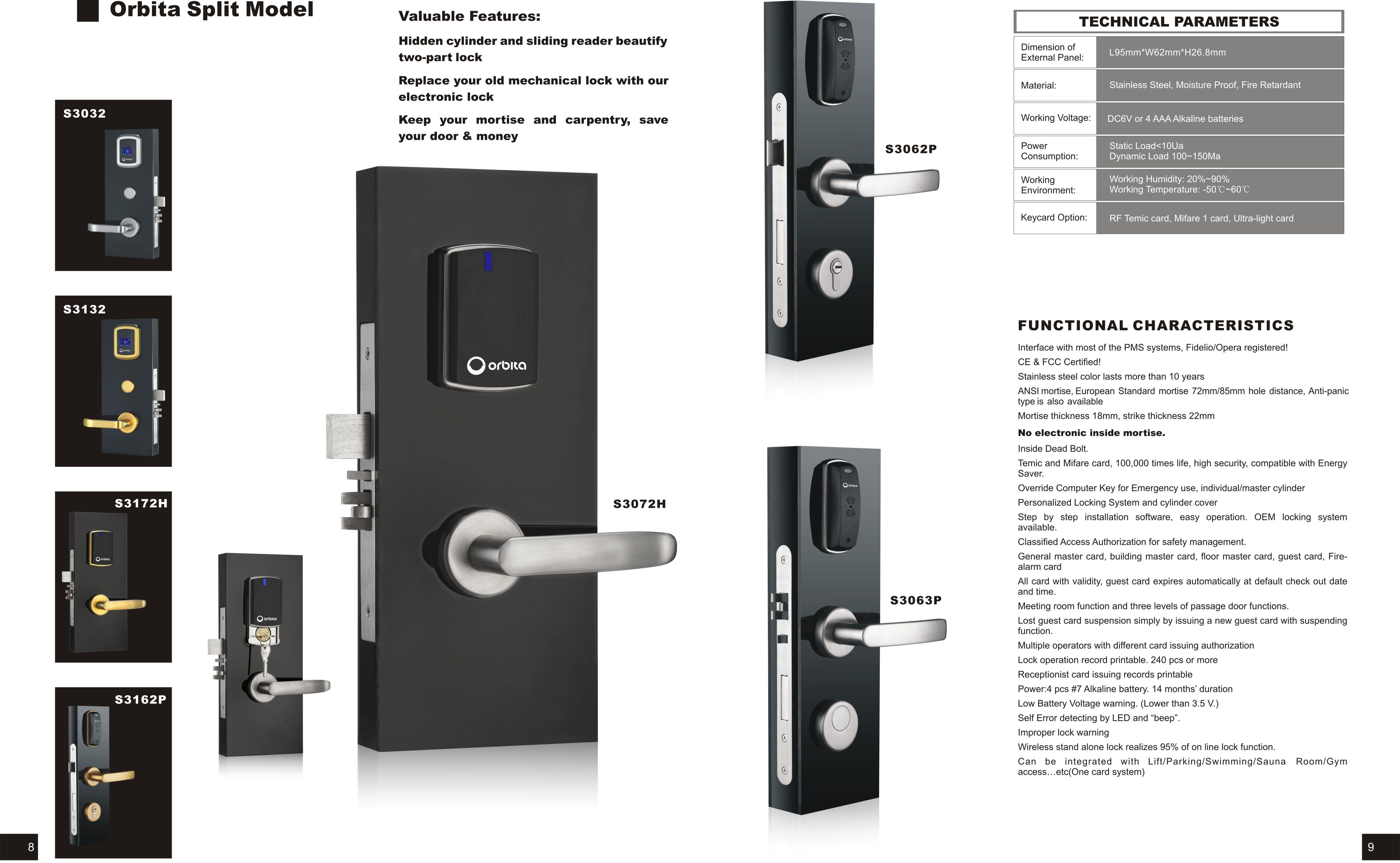 Mainly Produce Hotel Card Locking System Hotel In Room Safe