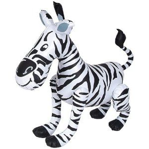 "Zebra Inflate 24"" by RINCO. $5.66. Great For Parties. Unique Fun Item. Room Decor. 24"" inflate. 24"" inflatable zebra - A fun time product."