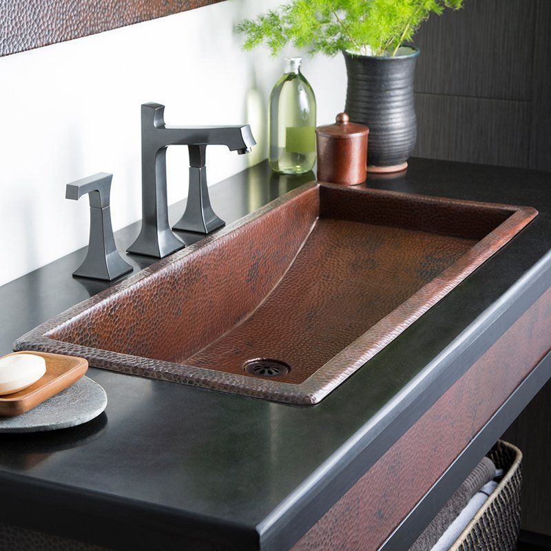Have To Have It Native Trails 30 In Trough Drop In Bathroom Sink