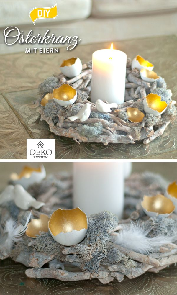 Photo of DIY: decorate pretty Easter wreaths with egg shells