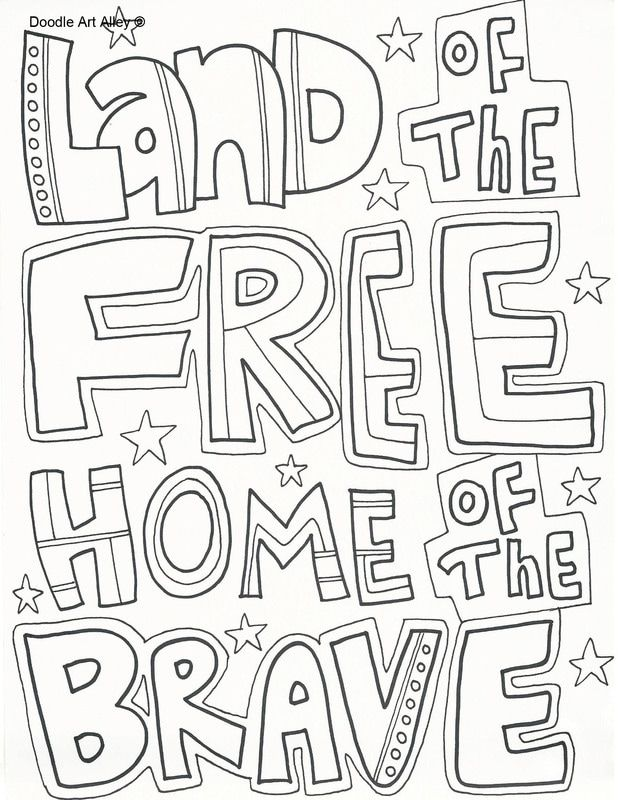 Holiday Coloring Pages Doodle Art Alley Memorial Day Coloring