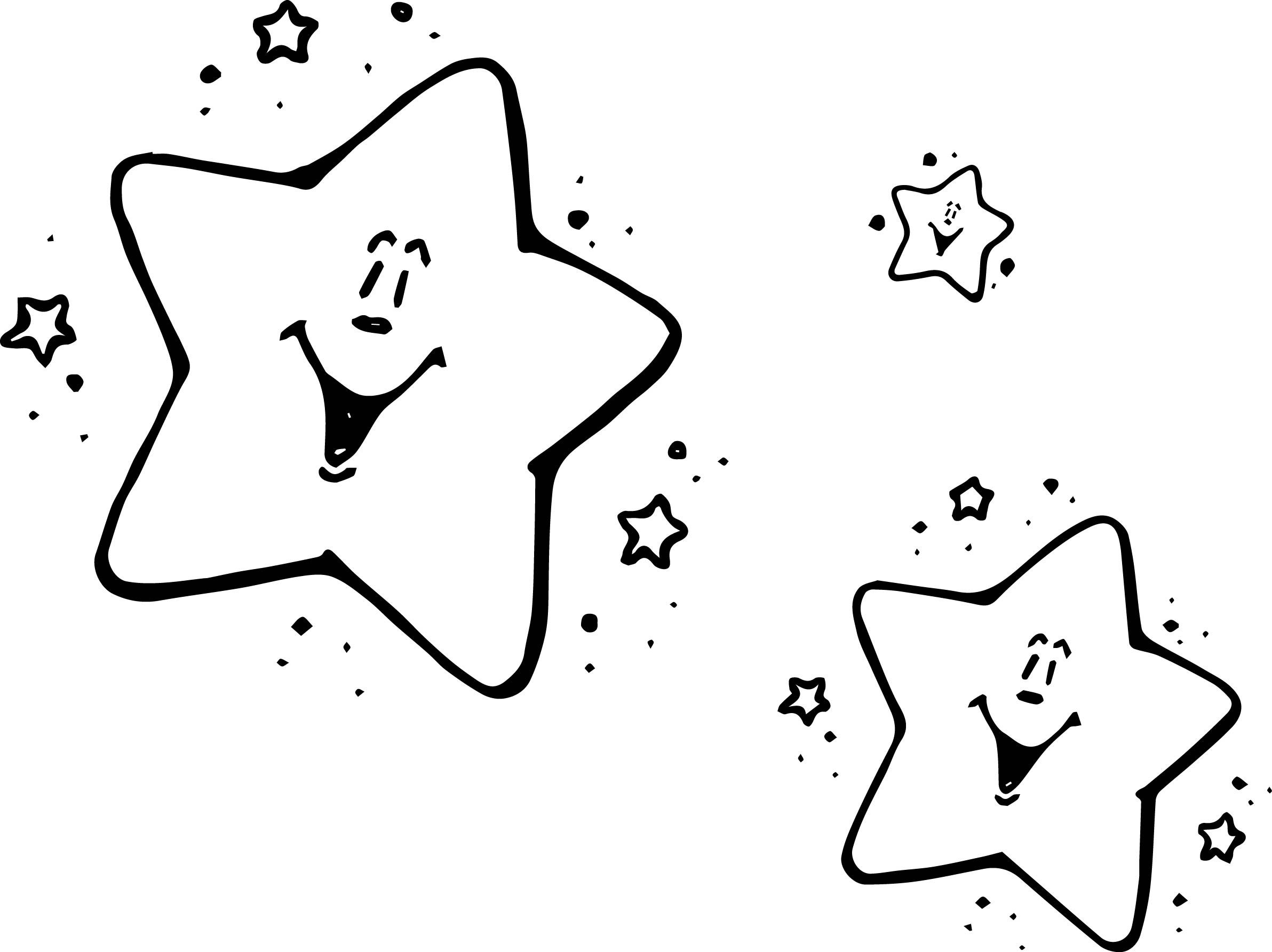 Nice Happy Stars Coloring Page Star Coloring Pages Valentine