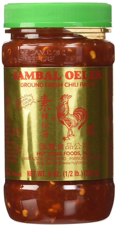 Huy fong sambal oelek ground fresh chili paste 8 oz