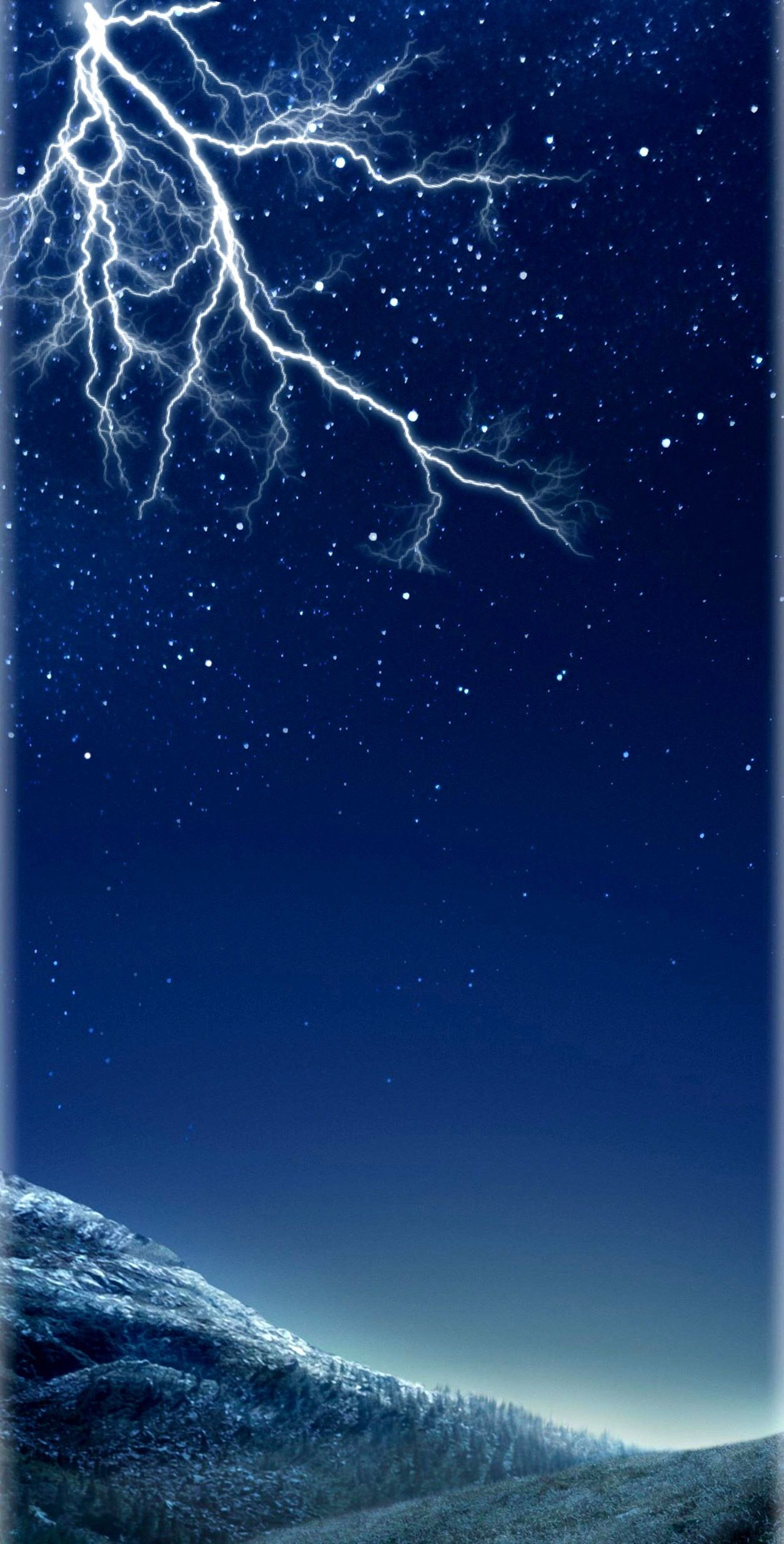 Dark Blue Storm Lightening Wallpaper Galaxy Beauty Nature Night Sky Stars Samsung Galaxy S8 S8 Galaxy S8 Wallpaper Samsung Wallpaper S8 Wallpaper