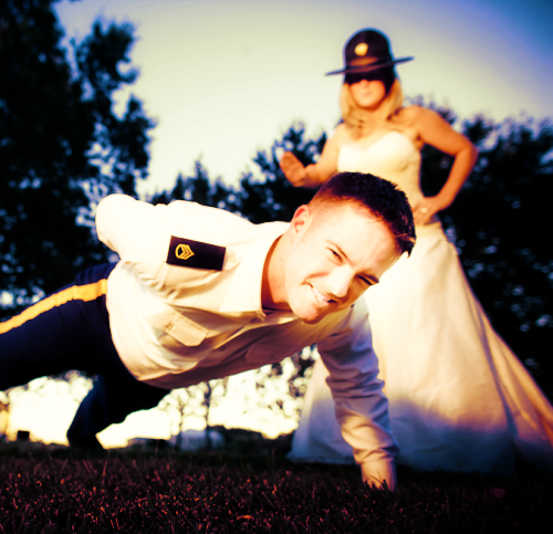 Air Force Wedding Ideas: You KNOW It's True Love When He Lets Her Wear His Drill