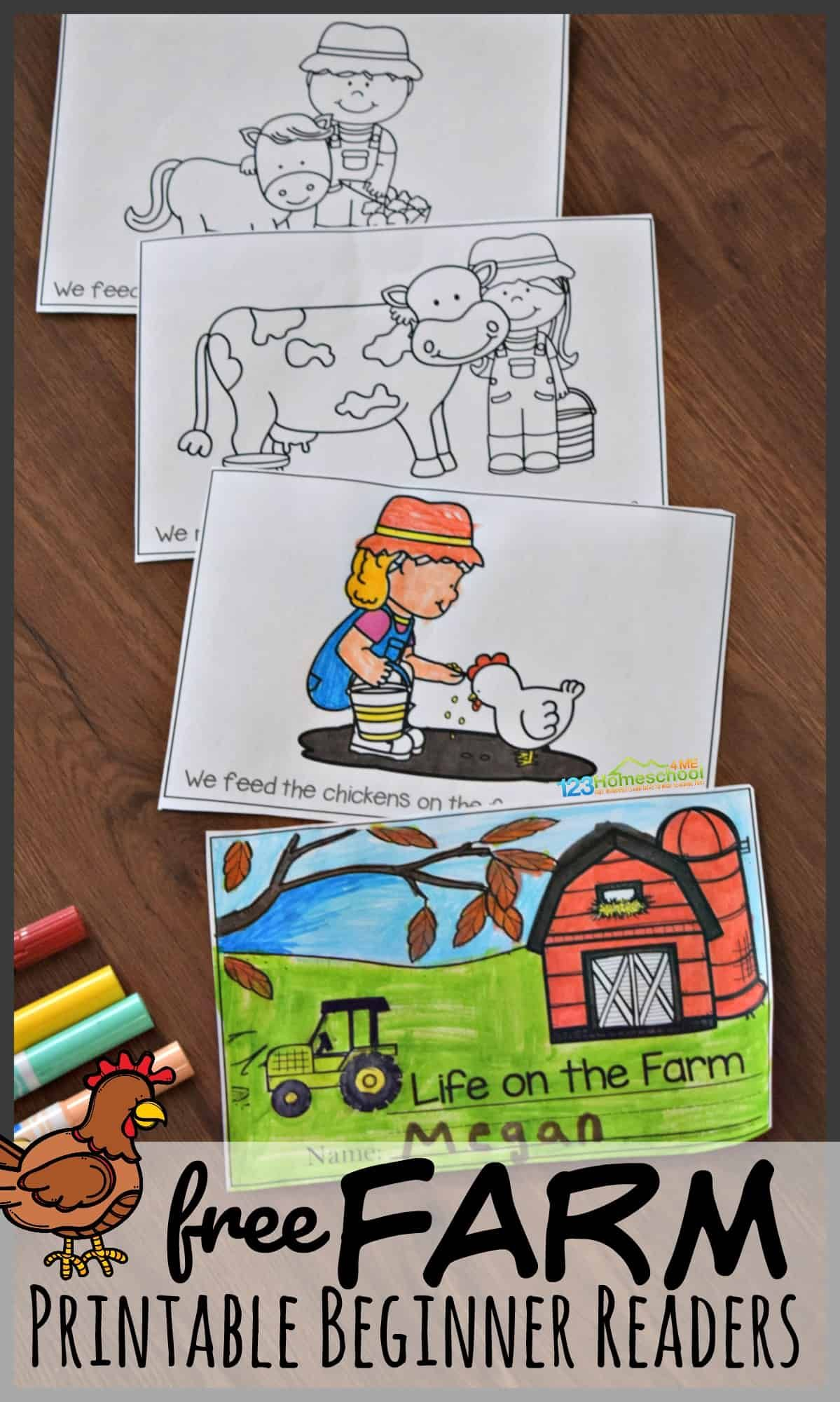 Free Farm Printable Beginner Reading Books