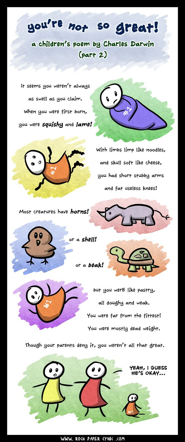 You Re Not So Great A Children S Poem By Charles Darwin Part Ii Rock Paper Cynic Childrens Poems Poems Charles Darwin Children [ 1431 x 600 Pixel ]