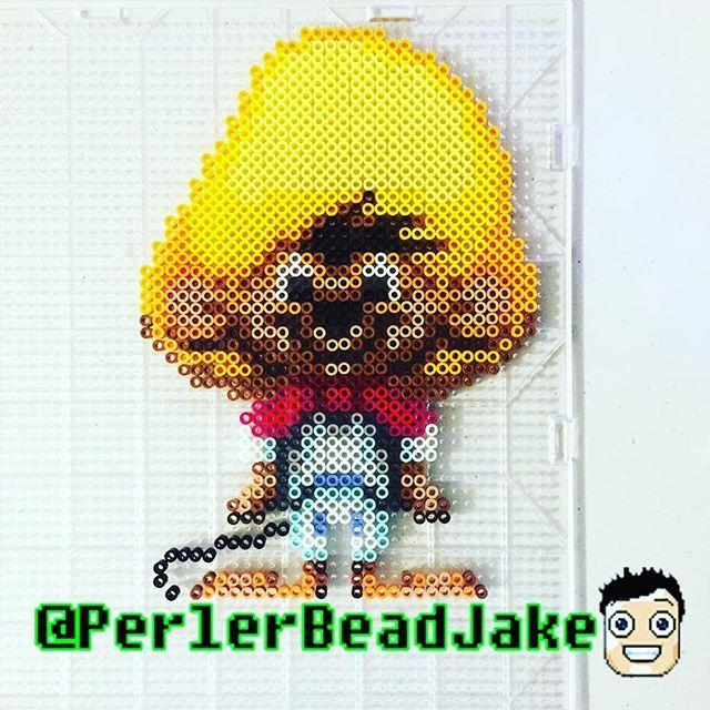Speedy Gonzales perler beads by perlerbeadjake