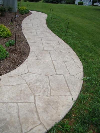 Stamped Concrete Walkways … | Pinteres…