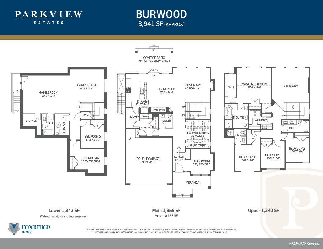 Parkview Estates - Floor Plans - Burwood  Foxridge Homes BC