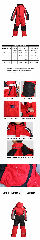 f18ad780e Preself One-Piece Winter Snowsuit For Boys Girls Waterproof ...