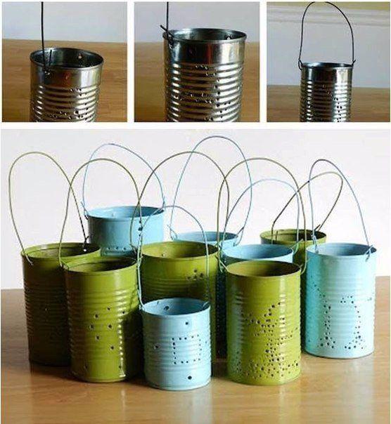 Kerzenhalter aus alte konservendosen basteln dekoking com blechdosen dekorieren basteln - Blechdosen basteln ...
