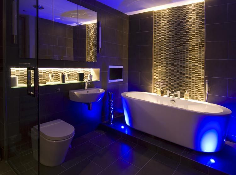 The Variety Of Task And Feature Lighting Includes Rgb Leds Creating Colourwash Effects In The