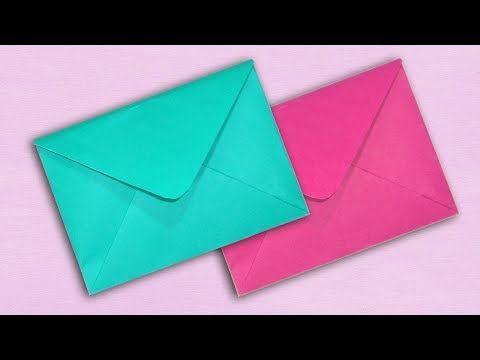 Super Easy Origami Envelope Tutorial Diy Paper Kawaii Youtube